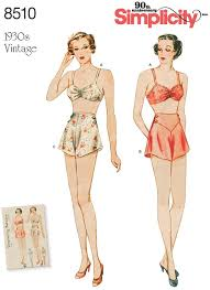 Simplicity Simplicity Pattern 40 Misses' Vintage Brassiere And Panties Adorable Simplicity Patterns