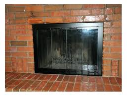 removing fireplace doors family glass for cleaning