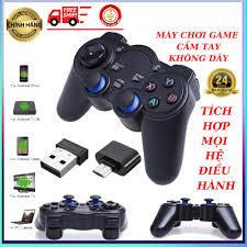 Tay cầm chơi game không dây tích hợp PC Laptop Điện Thoại TV Android TV Box  USB Bluetooth 2.4 bảo hành 24 tháng - Video games