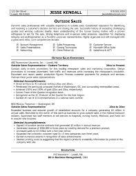 Sample Outside Sales Resume Resume Sample Sales Executive Channel