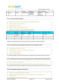 Project Management Plan Template Backup Recovery Example – Newbloc