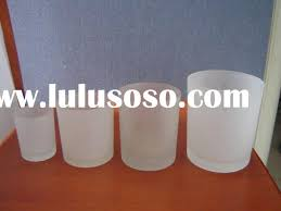 frosted gl candle jars whole image antique and