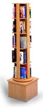 Wooden Book Display Stand MARLINE Single Rotor Stand With Wood Tower 87