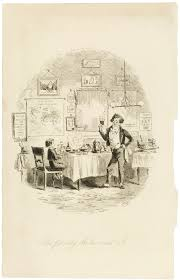illustrations for dickens novels victoria and albert museum the friendly waiter and i etched illustration by hablot knight browne for david copperfield by charles dickens