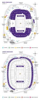 Minneapolis Us Bank Stadium Seating Chart Us Bank Stadium Seat Map Contemporary Decoration Minnesota