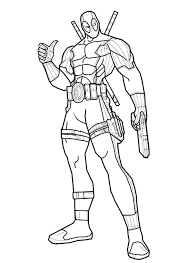 Small Picture Deadpool Coloring Pages Coloring Pages Kids