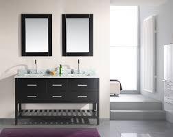 Adorna 60 inch Double Sink Bathroom Vanity Set Espresso Finish