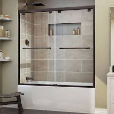 dream line frameless tub doors sliding shower for bathtubs mirrored home ideas collection standing enclosure
