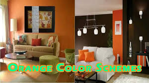 Orange And Yellow Living Room Color Schemes Interior Decorating With Orange Colors Youtube