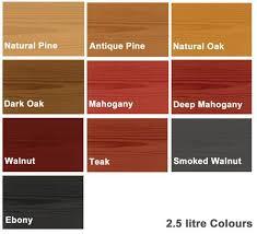Exhaustive Rustins Wood Dye Colour Chart Colron Wood Dye