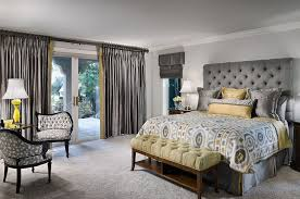 tufted headboard and silken ds give the room an air of luxury design decorating