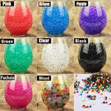 Decorative Vase Filler Balls 100gbag Colorful Magic Pearl vase filler Shaped Crystal Soil Water 11