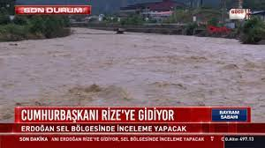 Son dakika: Cumhurbaşkanı Erdoğan selin vurduğu Rize'de