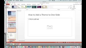 Excel Slice Theme How To Apply A Theme To One Slide Using Powerpoint 2013 Mac And Pc