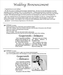 Wedding Invitation Newspaper Template Wedding Announcements In Newspaper Template Zoro Braggs Co