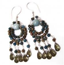 how to make bead and wire chandelier earrings tutorials