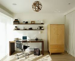 retro home office. Office:Classsy Retro Home Office Design With Unique Round Shape Pendant Lamp And Rectangle Wooden