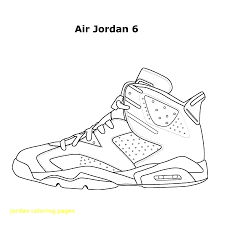 Awesome Jordan Shoe Coloring Pages Free Download At Shoes Bertmilne