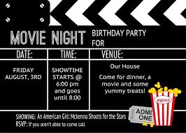 Movie Night Invitation Template Free Movie Ticket Invitation Template Free Printable Birthday Parties