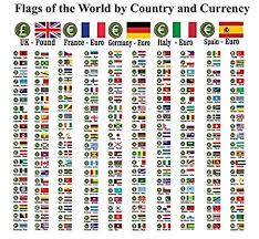 Currency Chart For All Countries Maxi Size Chart Flags Of The World With Country Names And
