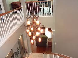 contemporary bronze chandeliers foyer