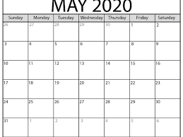 Plain Calendar 2020 Free Printable Calendar Shop Teaching Resources Tes