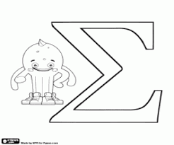 If your kids like to color, these alphabet coloring pages are sure to please! Greek Alphabet With Pypus Coloring Pages Printable Games 2