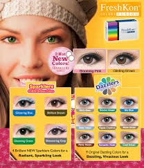 Contact Lenses Colour Chart Freshkon Colors Fusion