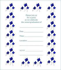 Free Template For Graduation Invitation Free Printable Graduation Party Invitations Elegant Preschool