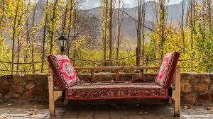 autumn furniture. While Walking On Narrow Streets In Small Iranian Village Abyaneh Known From Multilevel Buildings, We Found This Pearl Autumn Scenery. Furniture