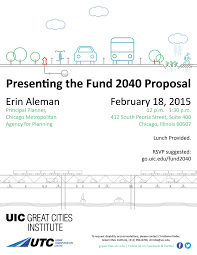 Presenting The Cmap Fund 2040 Proposal