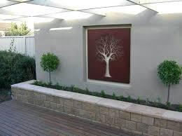 exterior wall art metal wall art outdoor use with tree design ideas external wall art uk