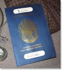 Sherlock British Sherlock Passport Holmes Holmes