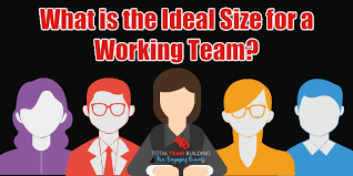 working as a team team size what is the ideal size for a working team