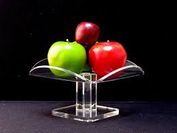 Lucite Plate Display Stands Lucite Pedestal Bowl Clear Lucite Fruit Bowl Cylindrical Pedestal 52