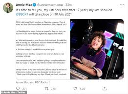 Read about our approach to external linking. Annie Mac Quits Bbc Radio 1 After 17 Years As She Is Replaced By Clara Amfo Daily Mail Online