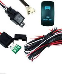 led light bar 40 amp wiring harness relay and backlit blue image is loading led light bar 40 amp wiring harness