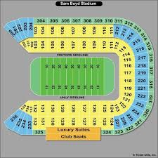 Sam Boyd Stadium Virtual Seating Chart Nevada Wolf Pack At Unlv Rebels Football At Sam Boyd Stadium