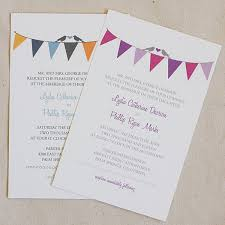 bunting free printable wedding invitation templates