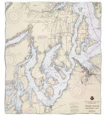 Wa Puget Sound Southern Wa Nautical Chart Blanket Island