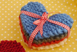 Knitted Heart Pattern Beauteous How To Make Knitted Heart Coasters Mollie Makes
