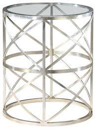 end tables glass nice round glass end table round glass top table silver finish transitional side
