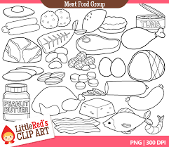 Small Picture Meat Group Clipart 37