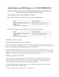Refund Rules And Tdr Filing Wef 12 November 2015