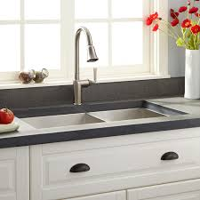 Sinks, Stainless Undermount Kitchen Sink Sink Cabinet And Corner Storage  With White Coloured Cabinet And ...
