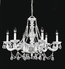 6 lights antique white spectra crystal chandelier
