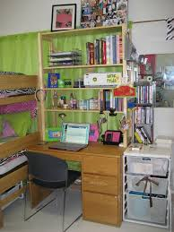 the chic technique place a hutch over your dorm desk in college residential hall room for extra space and organization