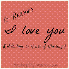 To My Husband Of 13 Years