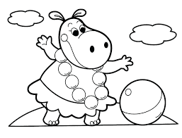 Free Coloring Pages Kids Color Page For Easy Cute Animal Animals