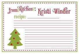 Printable Christmas Recipe Cards Printable Christmas Recipe Cards Gift Tags Recipe Cards